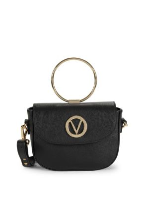 Lunette Leather Crossbody Bag by Valentino By Mario Valentino