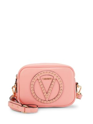 Embellished Leather Shoulder Bag by Valentino By Mario Valentino