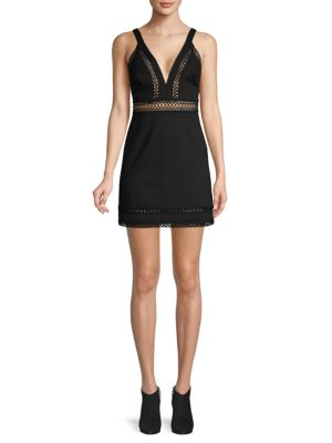 Iris Crochet Trim Mini Dress by Free People