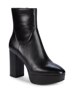 Amazon Leather Platform Booties by Ash