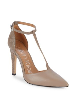 "Brandy T Strap D'osay Pumps/4"" by Calvin Klein"