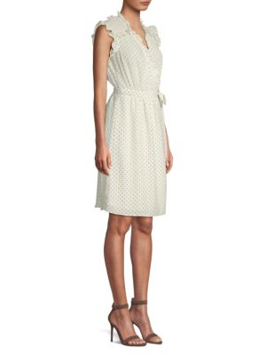 Ikat Sleeveless Polka Dot Wrap Dress by Rebecca Taylor