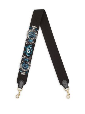 Embroidered Leather Guitar Shoulder Strap by Anya Hindmarch