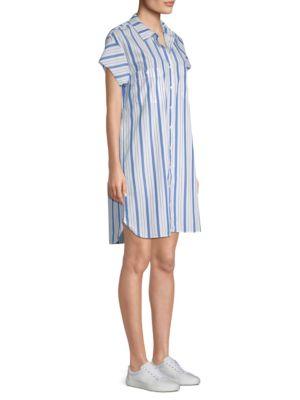 Striped Cotton Shirtdress by Stateside