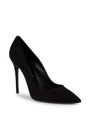 Leather Point Toe Pumps by Casadei