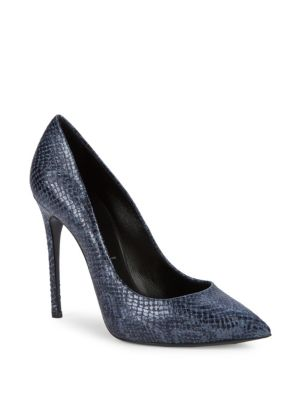 Lugo Textured Leather Pumps by Casadei