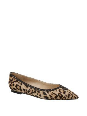 Orient Express Rini Leopard Print Calf Hair Flats by Sam Edelman