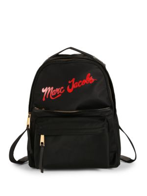 Logo Zip Backpack by Marc Jacobs