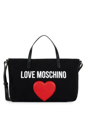 Logo Canvas Crossbody Bag by Love Moschino