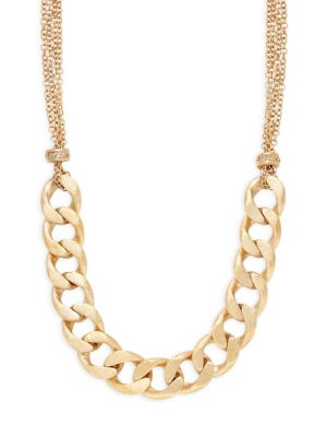 Crystal Bold Curb Link Necklace by Rivka Friedman