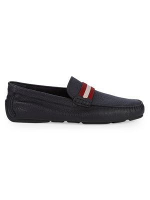 Textured Leather Loafers by Bally