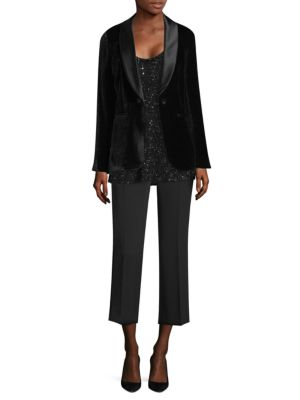 Classic Velvet Tuxedo Jacket by Lafayette 148 New York