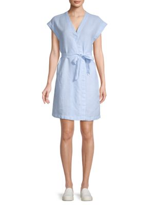 Chambray Wrap Dress by Pure Navy