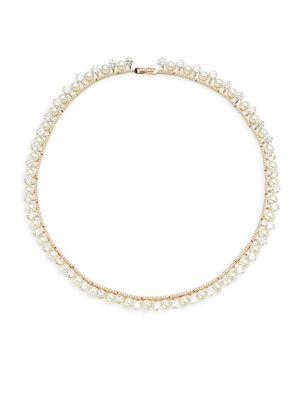 Fireworks Pavé Crystal & Faux Pearl Necklace by Adriana Orsini