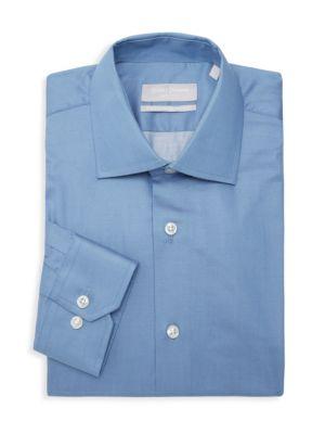 Hickey Freeman Classic Fit H F Sil Dress Shirt