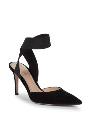 Strappy Suede High Heel Slingbacks by Gianvito Rossi