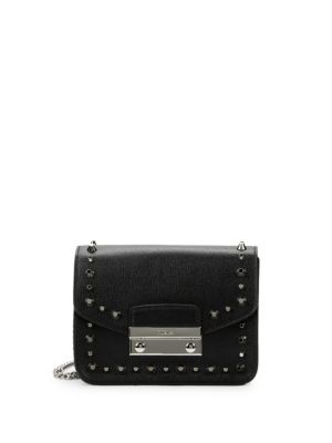 Julia Studded Mini Leather Crossbody Bag by Furla