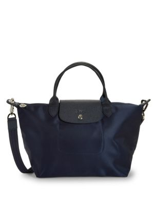 Classic Leather Trimmed Tote by Longchamp