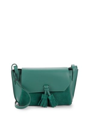 Tassel Leather & Suede Crossbody Bag by Longchamp