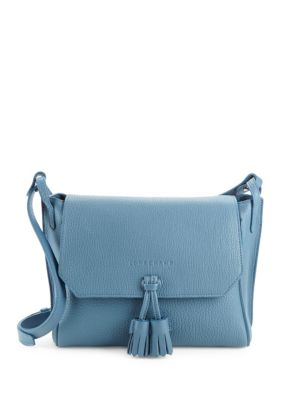 Logo Leather Crossbody Bag by Longchamp