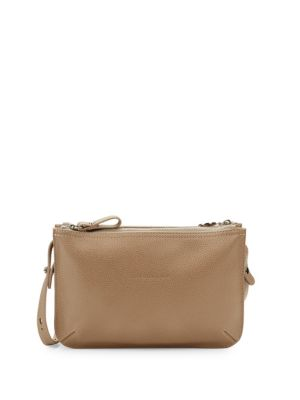 Le Foulonne Leather Crossbody Bag by Longchamp