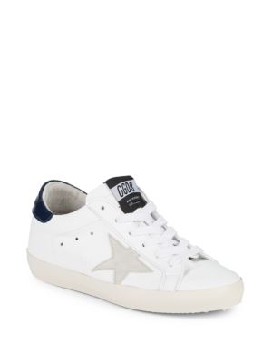 Superstar Leather Patch Low Top Sneakers by Golden Goose Deluxe Brand