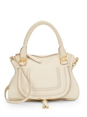Marcie Medium Leather Satchel by See By Chloé