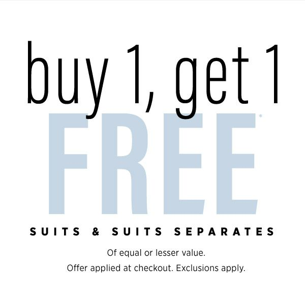 Guys: buy 1 suit, get 1 FREE (it's kind of our thing)