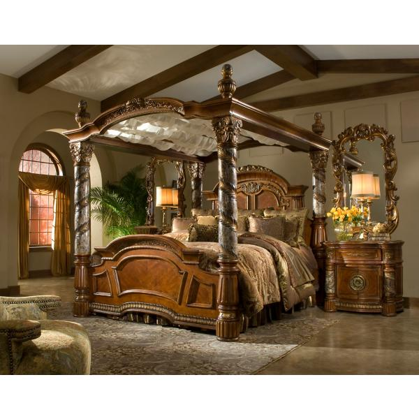 Villa Valencia King Canopy Bed
