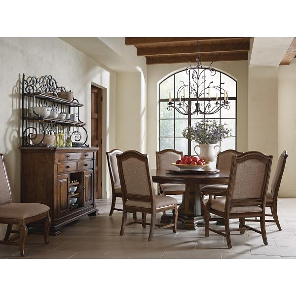 Portolone 5 Piece 72inch Round Dining Room Set