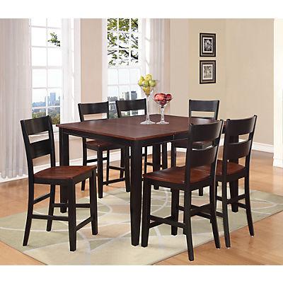 Madera 5 Piece Counter Height Carmel/Black Dining Set
