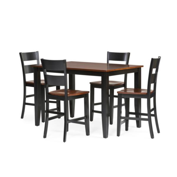 Madera 5 Piece Counter Height Carmel/Black Dining Set