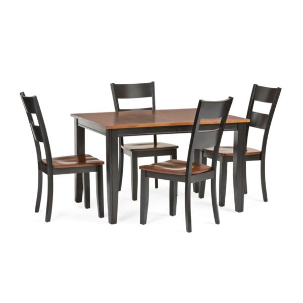Madera 5 Piece Rectangle Carmel/Black Dining Set