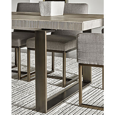 Modern-Quartz 5 Piece Rectangle Dining Room Set