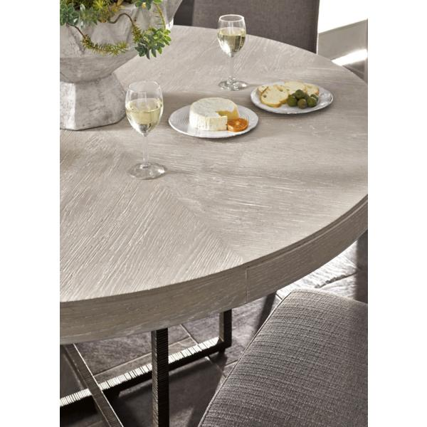 Modern-Quartz 5 Piece Round Dining Room Set