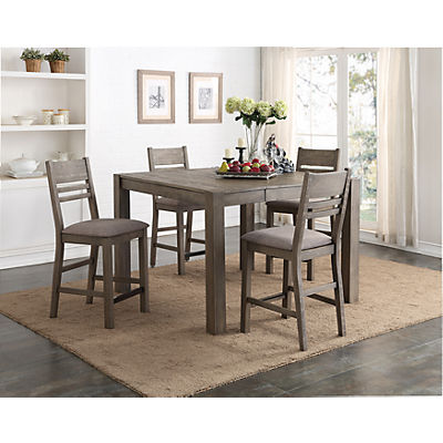Easton Grey 5 Piece Counter Height Dining Set