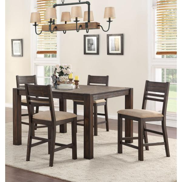 Easton Brown 5 Piece Counter Height Dining Set