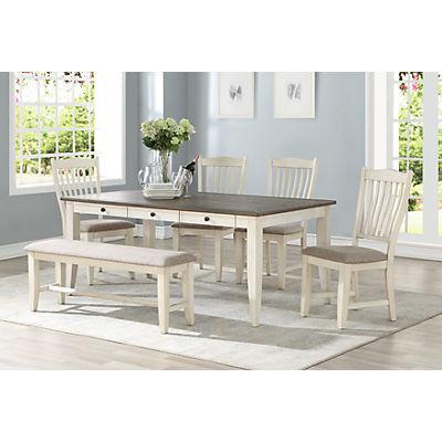 Garth 5 Piece White Dining Set