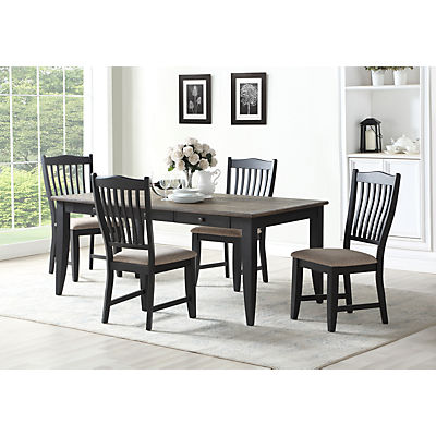 Garth 5 Piece Black Dining Set