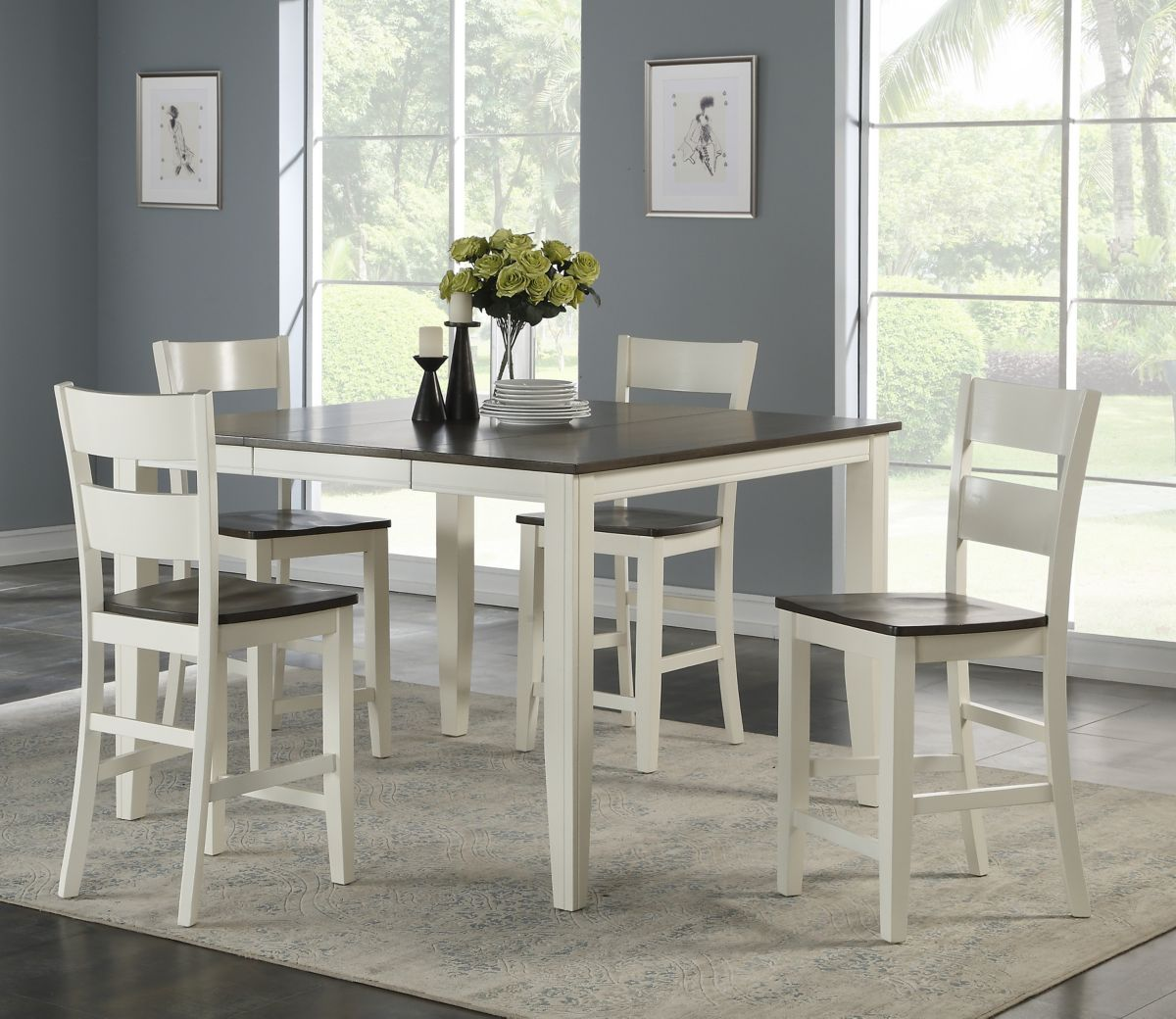 Gray 5 Piece Counter Height Dining Set