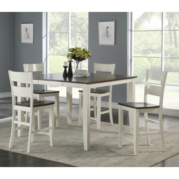 Madera White/Grey 5 Piece Counter Height Dining Set