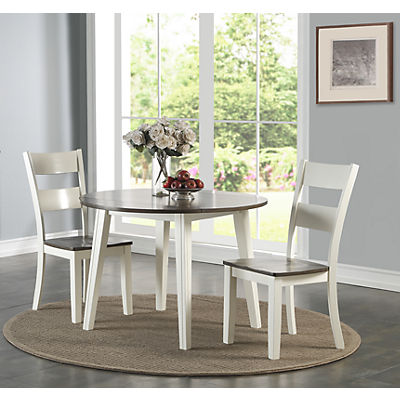 Madera White/Grey 3 Piece Drop Leaf Dining Set