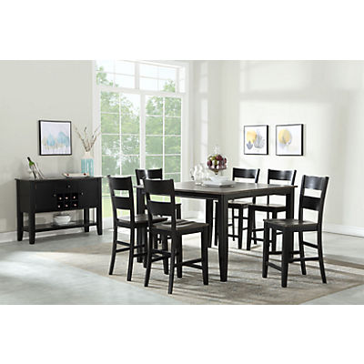 Madera Black/Grey 5 Piece Counter Dining Set