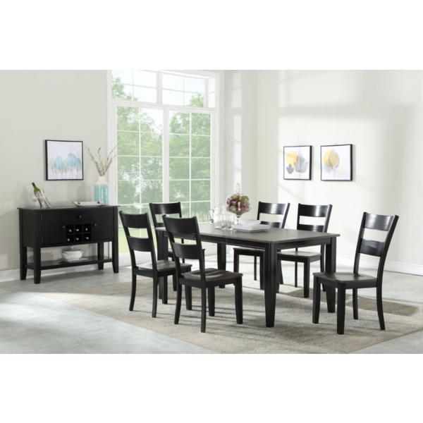 Madera Black/Grey 5 Piece Leg Dining Set