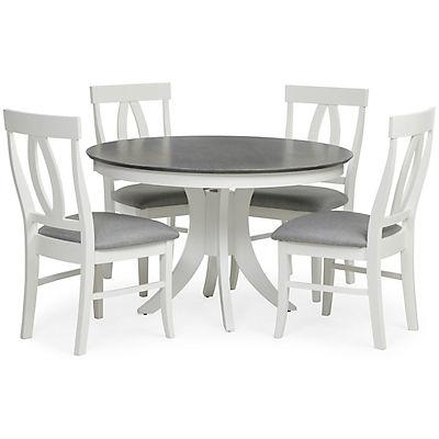 Cosmopolitan 5 Piece White/Grey Dining Set