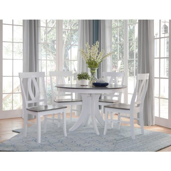 Cosmopolitan 5 Piece White/Grey Dining Set