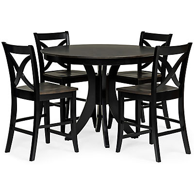 Cosmopolitan 5 Piece Black/Coal Dining Set