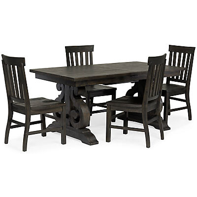 Treble II 5 Piece Rectangular Dining Table Set