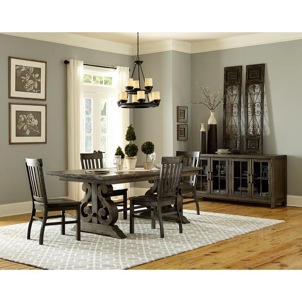 Treble II 5 Piece Rectangular Dining Table Set - PEPPERCORN