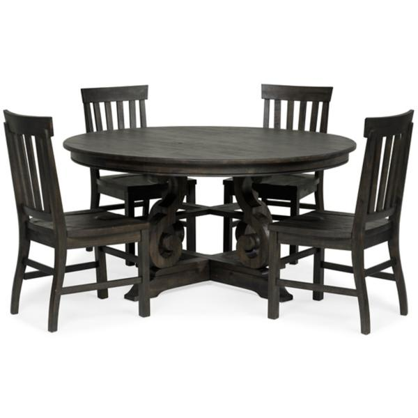 Treble II 5 Piece 60inch Round Dining Table Set